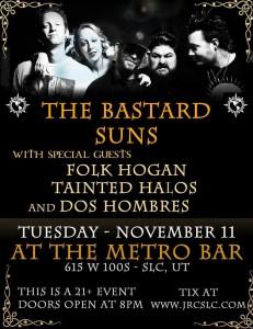 The Bastard Suns Tour poster